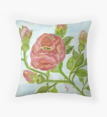 """a wild red rose """"girls rooms""""  Throw Pillow"""