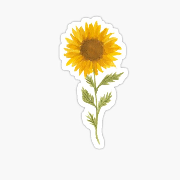 Lovely Sunflower Sticker