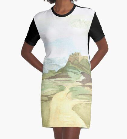 Lindisfarne Castle Graphic T-Shirt Dress