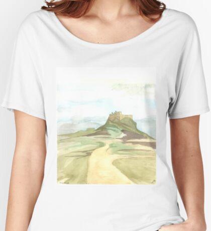 Lindisfarne Castle Women's Relaxed Fit T-Shirt
