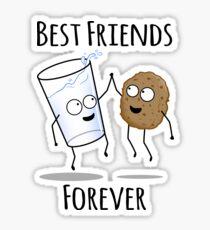 Mejores Amigos Para Siempre Dibujo Pegatinas Redbubble