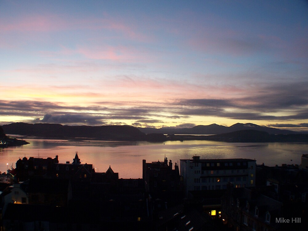 sunset over oban by Mike Hill