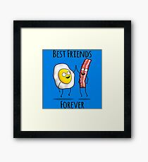 Bacon and Egg BFF Framed Print