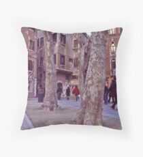Walkway in Spring - Venice  Throw Pillow