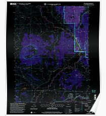 USGS TOPO Map Colorado CO Mad Creek 233681 2000 24000 Inverted Poster