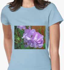 Lovely Lilac Sweet Peas Womens Fitted T-Shirt