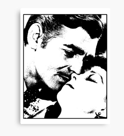 Gone With The Wind - The Kiss Canvas Print