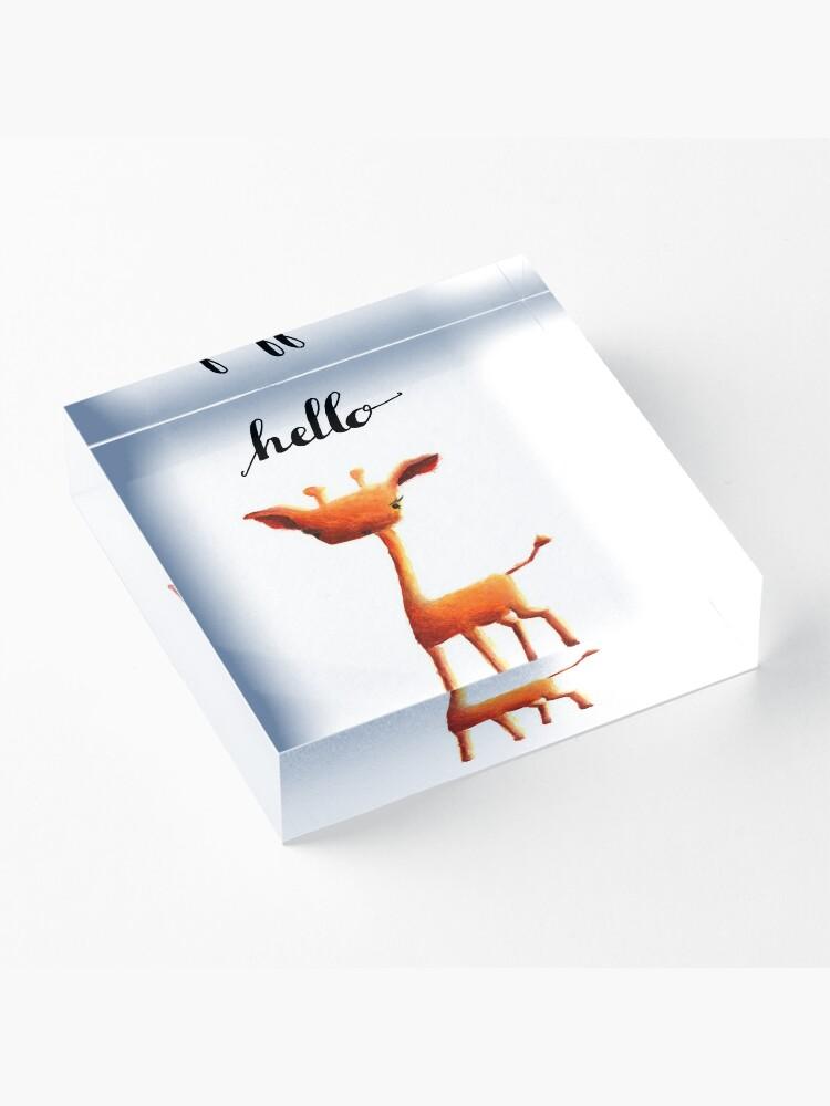 Alternate view of Orange Giraffe Acrylic Block