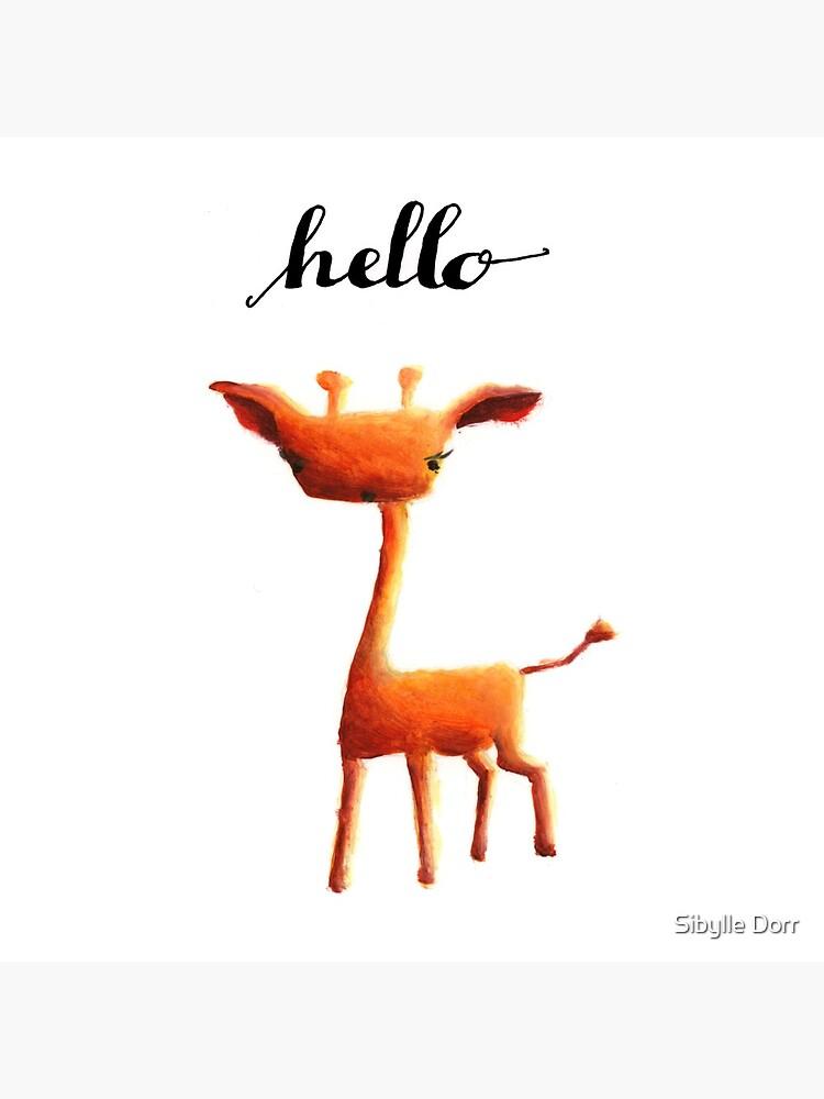 Orange Giraffe by SibylleDorr