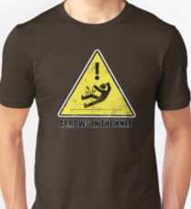 CAUTION - Arrows in the knee Unisex T-Shirt