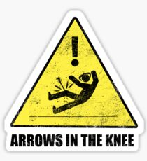 CAUTION - Arrows in the knee Sticker