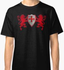Löwen Ritterschild Ritterkreuz Ritter Wappentiere Kreuz Classic T-Shirt