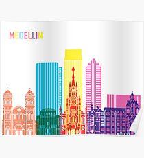 Medellin Skyline Pop Poster