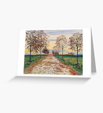 Ferdinand Hodler - Autumn Evening Greeting Card