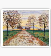 Ferdinand Hodler - Autumn Evening Sticker