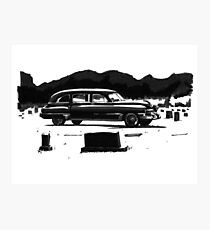 49 Cadillac Hearse Photographic Print