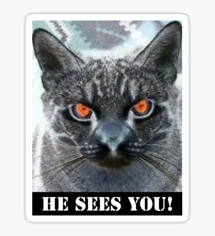 HE SEES YOU! Sticker