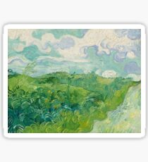 Green Wheat Fields, Auvers, 1890, Vincent van Gogh Sticker