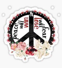 Peace & Fear Sticker