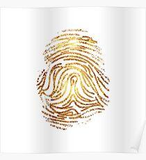 Gold fingerprint Poster