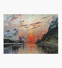 Adelsteen Normann - A Fjord Photographic Print