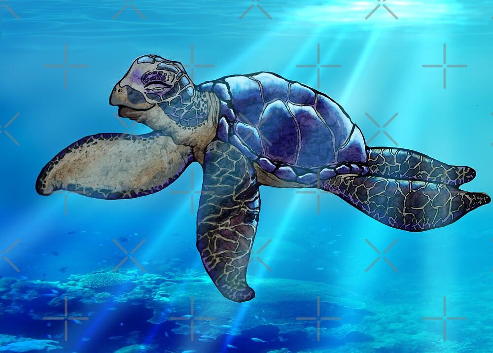 Happy Turtle by Ashley Siemon