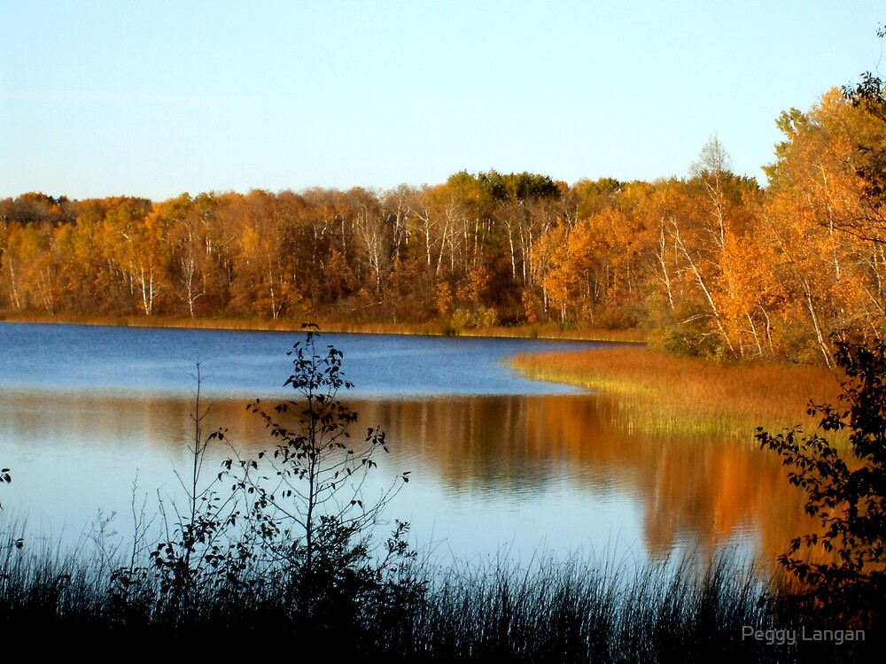 Reflections Of Fall Beauty by Peggy Langan
