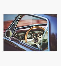 Interior shot of a 1960s Mustang Photographic Print
