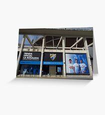 La Rosaleda Stadium, Malaga Greeting Card