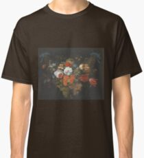 Abraham Mignon - Garland Of Fruit And Flowers  1660  Classic T-Shirt