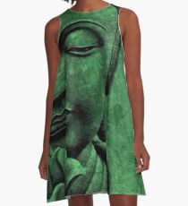 Buddha Head  A-Line Dress