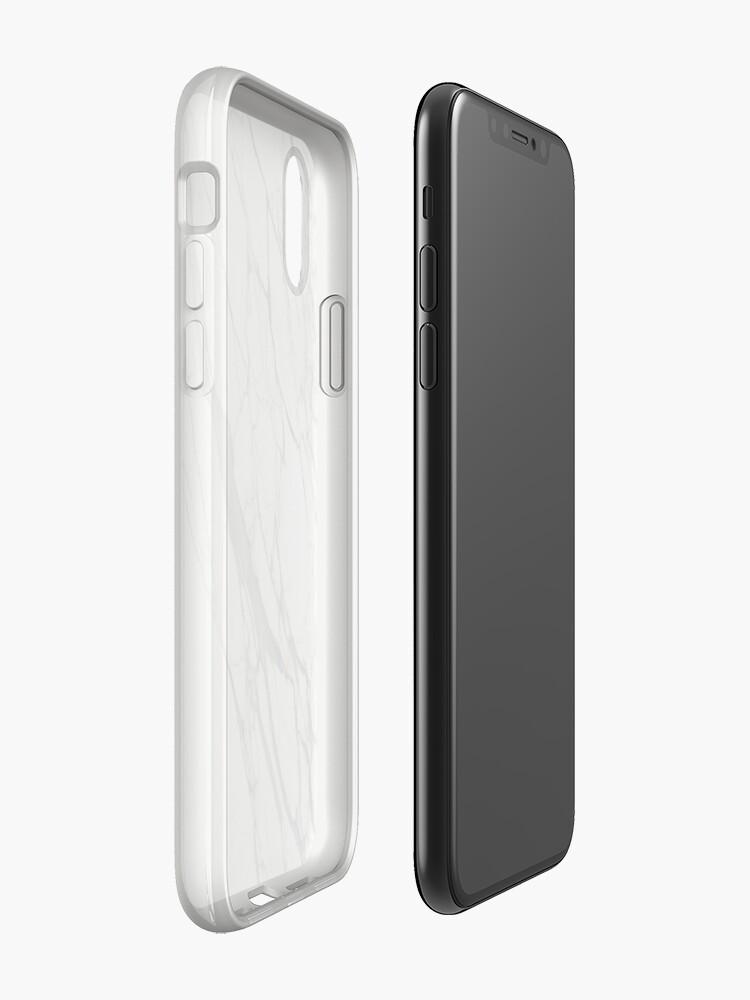 Vista alternativa de Funda y vinilo para iPhone Caja de iPhone de mármol blanco