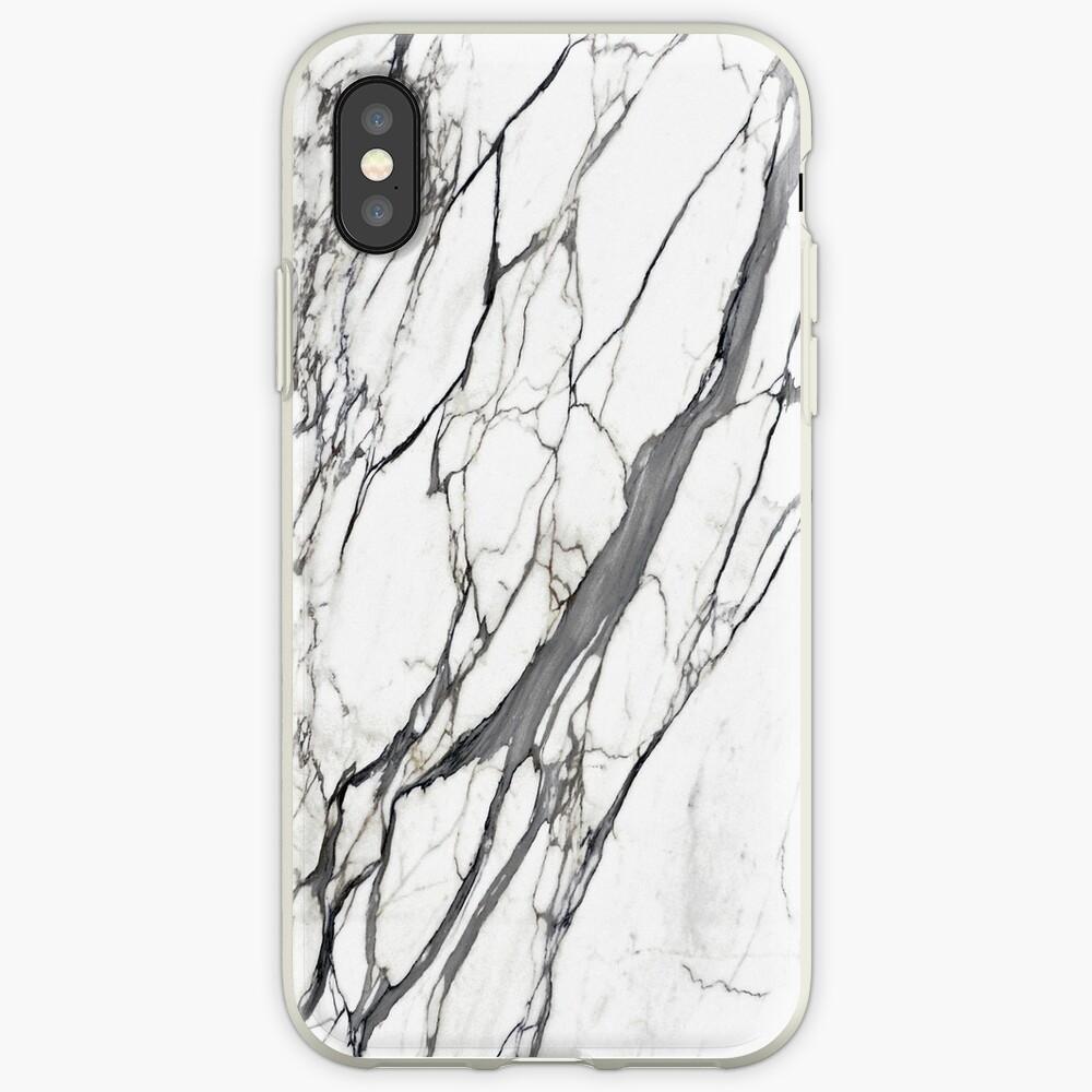 Caja de iPhone de mármol blanco Funda y vinilo para iPhone