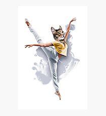 Dancing Cat Girl Pepe Psyche Photographic Print
