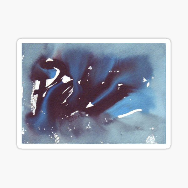 Pisces. Watercolor Star Sign. Sticker