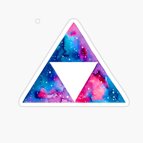 Galaxy Triforce Sticker