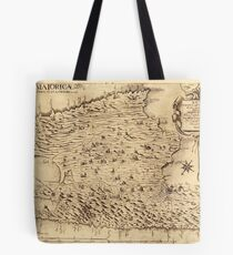 Map Of Majorca 1683 Tote Bag