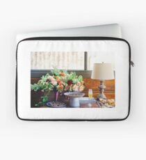 Table with flowers and chocolate Laptop Sleeve