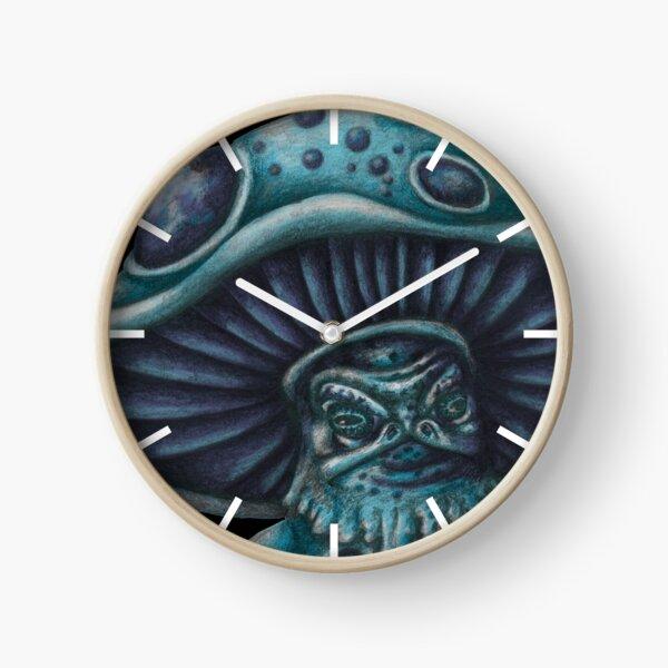 Little Blue Mushroom Creature Clock