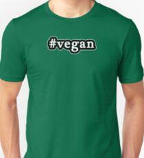 Vegan - Hashtag - Black & White Unisex T-Shirt