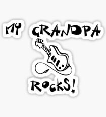 My Grandpa Rocks! Guitar Sticker