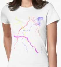 Colourful lightening Women's Fitted T-Shirt