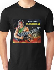 Rambo Sylvester Stallone movie poster painting Unisex T-Shirt