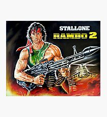 Rambo Sylvester Stallone movie poster painting Photographic Print