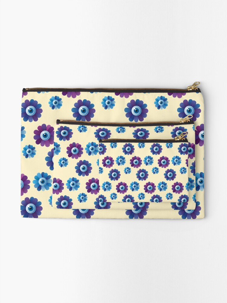 Alternate view of Eye Flowers Pattern Zipper Pouch