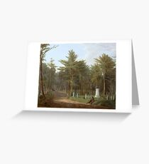 Magnifying Glass Albany Rural Cemetery,  James M. Hart Greeting Card