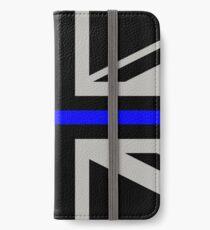 British Flag: Thin Blue Line iPhone Wallet/Case/Skin