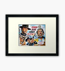 Clint Eastwood, Lee Van Cleef, The Good,The Bad & The Ugly movie poster Framed Print