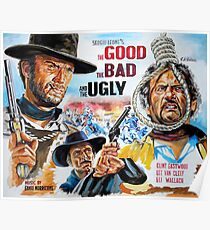 Clint Eastwood, Lee Van Cleef, The Good,The Bad & The Ugly movie poster Poster