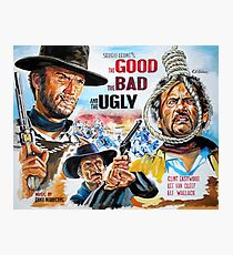 Clint Eastwood, Lee Van Cleef, The Good,The Bad & The Ugly movie poster Photographic Print